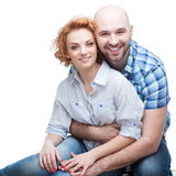 Cheerful hugging couple Royalty Free Stock Photography