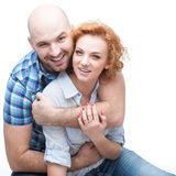 Cheerful hugging couple Stock Photo