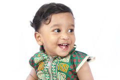 Cheerful Indian Baby Stock Photography