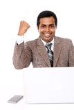 Cheerful Indian businessman Stock Images