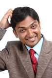 Cheerful Indian businessman Royalty Free Stock Photography