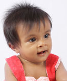 Cheerful Indian Cute Baby Stock Photo