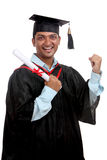 Cheerful Indian graduate Royalty Free Stock Image