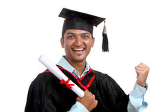 Cheerful Indian graduate Stock Images