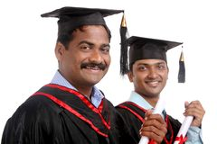 Cheerful Indian graduates Stock Photo