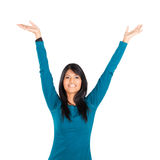 Cheerful indian woman Stock Images