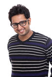 Cheerful Indian young man portrait Stock Images