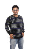 Cheerful Indian young man in t shirt Royalty Free Stock Photo