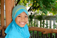 Cheerful Indonesian Girl Stock Images