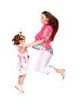 Cheerful jump Royalty Free Stock Image