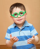 Cheerful kid in glasses Royalty Free Stock Photography
