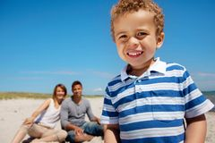 Cheerful Kid Having Fun with His Parents Royalty Free Stock Photo