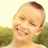 Cheerful Kid outdoor Royalty Free Stock Images