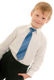 Cheerful kid in white shirt Royalty Free Stock Photography