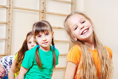Cheerful kids group Royalty Free Stock Image
