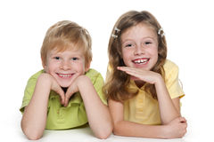 Cheerful kids together Stock Photography