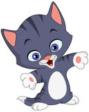 Cheerful kitten. Cartoon illustration of a cheerful kitten royalty free illustration