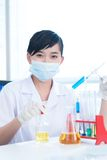 Cheerful lab worker Stock Image