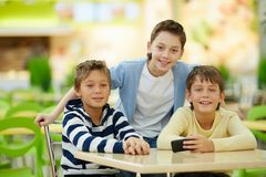 Cheerful lads Royalty Free Stock Photography