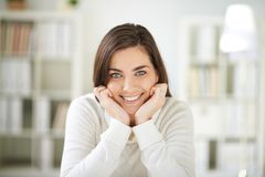 Cheerful lady Royalty Free Stock Images