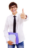 Cheerful latin student Stock Images