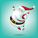 Cheerful leaping Santa Royalty Free Stock Photo