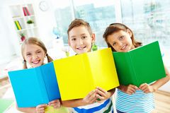 Cheerful learners Royalty Free Stock Photos