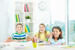 Cheerful learners Royalty Free Stock Photo