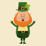 Cheerful leprechaun hands up Royalty Free Stock Image