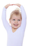 Cheerful little ballerina Royalty Free Stock Photos