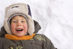 Cheerful little boy Stock Image