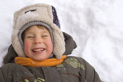 Cheerful little boy Stock Images