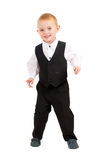 Cheerful little boy businessman Stock Images