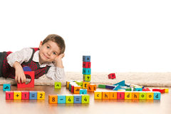 Playing with toys little boy Stock Photo