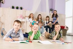 Cheerful little boys Royalty Free Stock Image