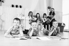 Cheerful little boys Stock Photo