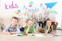 Cheerful little boys Royalty Free Stock Images