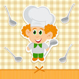 Cheerful little cook Stock Images