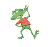 Cheerful little frog Royalty Free Stock Images