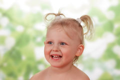 Cheerful Little girl Stock Photos