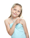 Cheerful little girl with lollipop Royalty Free Stock Photography