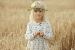 Cheerful little girl outside Stock Photography
