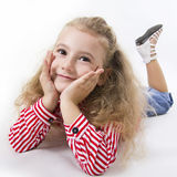 Cheerful little girl smile. Stock Photography