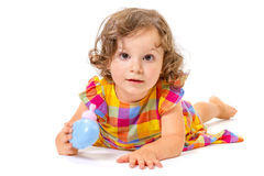 Cheerful little girl smiling Royalty Free Stock Photo