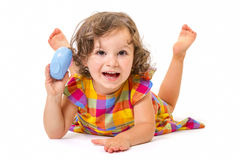 Cheerful little girl smiling Royalty Free Stock Image