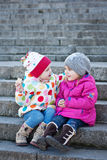 Cheerful little girls friends Royalty Free Stock Photos