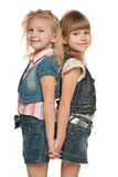 Cheerful little girls Royalty Free Stock Photography