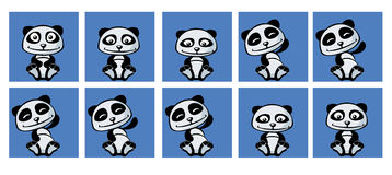 Cheerful little panda paw waving Royalty Free Stock Photos