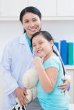 Cheerful little patient Stock Photos