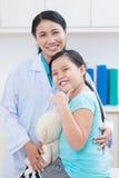 Cheerful little patient Stock Photos
